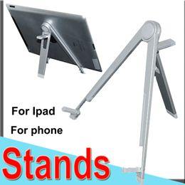 2019 suportes grossos de metal pequeno O suporte do leito do caderno do suporte geral para o telefone de Ipad suporta o suporte triangular de Samsung Computador pequeno do suporte da tabuleta de liga de alumínio Metal XCTZJ-2