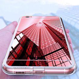 2019 cas pour samsung galaxy mega Coque TPU pour iPhone XS XR MAX X 7 8 6 6S Plus Samsung Note 9 8 S9 Miroir Coque de Galvanoplastie Coque Samsung S8 S7 Bord