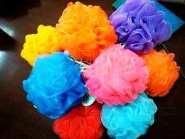 massages japonais Promotion Nylon Fleur Bain Balle Baignoires Baignoire Cool Ball Serviette De Bain Épurateur Nettoyage Corps Maille Douche Éponge