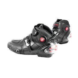 Motosiklet Boots Motosiklet Yarış Rider Koruyucu Botas Moto Giyilebilir Deri Su Geçirmez Motocross Ridng Touring Ayakkabı nereden ayakkabı askı perçinleri tedarikçiler