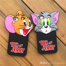 Animar manzana online-Cajas de Tom y Jerry Phone Cuteness Animated cartoon iphone6 6s plus Fundas para teléfonos Funda protectora para Iphone Frosted con resistencia a la caída