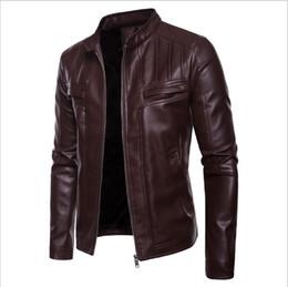 soporte de código Rebajas Código europeo de comercio exterior nuevos hombres locomotora soporte de cuero chaqueta de cuero guapo abrigo de gran tamaño