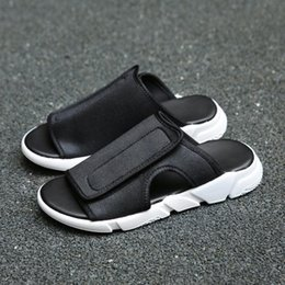 19fe2864804 Men summer shoes designer slippers Beach outside leisure cork slippers  fashion couple slippers flip-flops sandals comfortable footwear