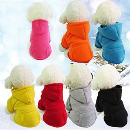 fashion hoodies cloth Coupons - Dog Clothes Winter Pet Cloth Dog Hoodies Fashion Solid Color Puppy Warm Coat Outfit Comfortable Apparel For Dog Supplies Dogs Costumes