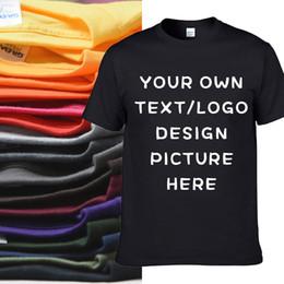 Camisetas personalizadas de los hombres online-CAMISETA 100% DE ALGODÓN HECHAS A MEDIDA TALLA GRANDE IMPRESIÓN PERSONALIZADA EN LA DEMANDA TOPS TEES CON DISEÑO PROPIO HFCMT052
