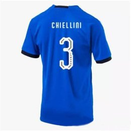 Wholesale Italy World Cup Jerseys - Top Thailand Quality 2018 World Cup Italy CHIELLINI INSIGME Football Jersey CANDREVA IMMOBILE BARZAGLI BONUCCI 17 18 Soccer Jersey