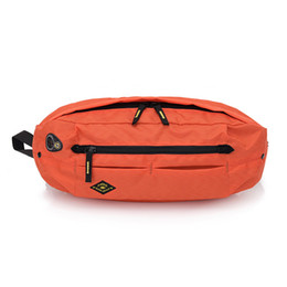 Wasserdichte beutellöcher online-2018 New Waterproof Nylon Belt Bag Waist Pack For Men Unisex Fashion Orange Fanny Pack waist Bag With Earphone Hole heuptas