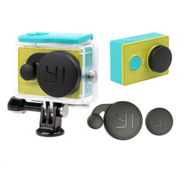Wholesale Hard Lens Cases - Lens Cap Cover + Waterproof Case Housing Cove Protective Protector For YI Xiaoyi I Action Camera