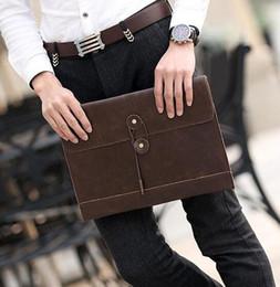 marchio di vendita della fabbrica di moda coreana borsa in pelle da uomo borsa tendenza busta borsa retrò casual business valigetta casual da uomo da