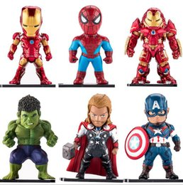 Wholesale captain games - Avengers Action Figure Iron Man Spiderman Captain America Movie Game Model Figure Toy Gift Collection OOA4897