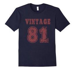 Wholesale Birthday Shirt Women - 1981 Vintage Birthday Gift T-shirt For Men Women