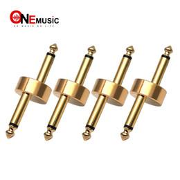 effektpedalanschluss Rabatt 4 TEILE / LOS Z Typ Gitarre Effektpedal Koppler Stecker 1/4 zoll Goldene