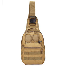 Wholesale military hunting - Hotsale 9 Color 600D Outdoor Sports Shoulder Military Camping Hiking Tactical Bag Camping Hunting Backpack Utility Chest Bag