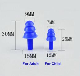Argentina 20 par / lote de silicona suave EarPlugs aislamiento de sonido impermeable tapones para los oídos para niños adultos anti-ruido para natación buceo reducción de ruido Suministro