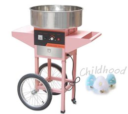 Wholesale cotton candy sugars - two wheels standing electric Cotton Candy Maker Candy Floss Making Machine Sugar Party Fair FREE Sticks free shipping 220v 220v