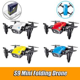 micro câmera fpv Desconto S9HW Mini Pocket Drone Com Câmera HD S9 Nenhuma Câmera Dobrável RC Quadcopter Altitude Segurar Helicóptero Wi-fi FPV Micro Zangão Aeronave VS XS809hw