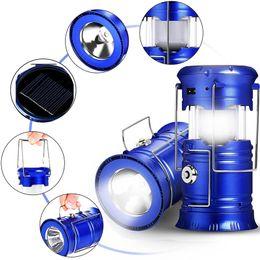 Pliable solaire actionné extérieur camping rechargeable lanterne lumière LED main lampe Portable lampe de poche télescopique torche pour la randonnée d'urgence ? partir de fabricateur