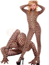 Catsuit do lycra do leopardo on-line-Detalhes sobre Nova Sexy Leopardo Lycra Spandex Catsuit Tamanho S-XXL