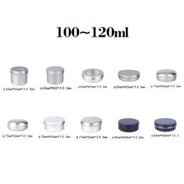 Wholesale Garage Storage Containers - Durable 100~120ml Empty Aluminum Cream Jars Tins Cosmetic Lip Balm Containers Nail Derocation Cans Crafts Storage Pots Bottles
