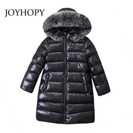 2019 детские пальто Fashion Long Girls&boys winter jacket  Fur Hoodies Autumn Winter Kids Down Coats Warm Children's Outerwear Kids Clothes дешево детские пальто