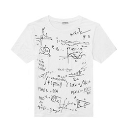 Wholesale Formula Brands - Mathematical Formula Printing Short-Sleeved t-shirt Men's Round Neck Casual Style t-shirt Tri-color M-XXXL Code Brand Clothing