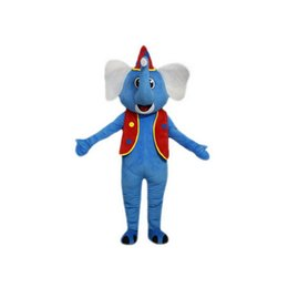 Wholesale Adult Mascot Costume Elephant - Blue elephant Mascot Costumes Cartoon Character Adult Sz 100% Real Picture