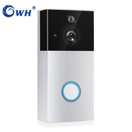2019 ver tarjeta de video CWH Videoportero inalámbrico HD PIR WiFi Timbre Intercom 720P Cámara IP Batería Power Audio Tarjeta SD Grabación de teléfono Vista A4 rebajas ver tarjeta de video