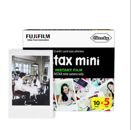 Wholesale Films For Instax Mini - Fujifilm Instax Mini 50 Sheets White Film Photo Paper Snapshot Album Instant Print for Fujifilm Instax Mini 7s 8 25 90