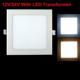 AC / DC 12V / 24V Diseño ultra delgado 3W 6W 9W12W 15W 25W LED Rejilla empotrada en el techo Downlight Cuadrado LED Panel Light desde fabricantes