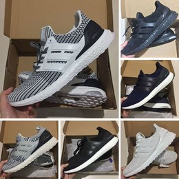 finest selection ee951 4d7f6 AD04-3 2018 Adidas Ultra boost 3.0 basketball shoes Ultra boost 3.0 Zapatos  casuales hombre 4.0 Triple negro blanco CNY oreo azul rojo Zapatillas sin  suela ...