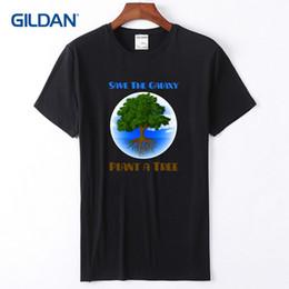 2019 piantare alberi T-shirt casual 2018 Save The Galaxy Plant A Tinta unita tinta unita per uomo piantare alberi economici