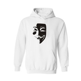 Wholesale Mask Hoodies - LUCKYFRIDAYF V for Vendetta Hero Mask 4xl Hooded Hoodies men Sweatshirt xxxl in xxs Hoodies Sweatshirts Outerwear Hooded Clothes