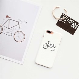 Wholesale Iphone Back Cover Style - bicycle dull polish hard case for iPhone7 plus,protective back cover for iPhone6 6S plus,simple style case for iPhone5 5S SE