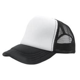 9cb1aad7b54 13 Color Summer Fashion Red Black Plain Trucker Mesh Hat Snapback Blank  Baseball Cap Adjustable Size