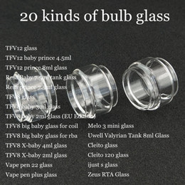 Fat Extend Replacement Bulb Bubble Glass Tube for TFV12 prince Resa TFV8 big baby RBA X-baby Vape pen 22 plus Valyrian Cleito 120 ijust DHL