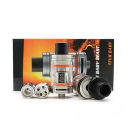 bobina q2 Rebajas TFV8 Baby Tank The Baby Beast 3mL con V8 Baby Q2 X4 Reemplazo doble bobinas Sistema de flujo de aire ajustable Top Atomizador de llenado DHL