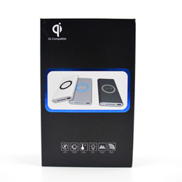 Wholesale Power Bank Qi Wireless - 2 in 1 Wireless Chargers Power Bank 10000mah Qi Mobile Phone Fast Charger LED Lighting Charging Pad For iPhone X For Samsung S8