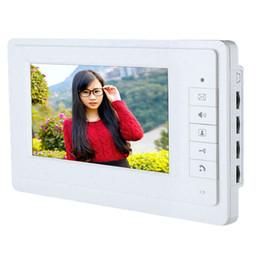 "Wholesale home video door phone - 7"" TFT LCD Wired Video Door Phone Visual Home Video Intercom Doorbell Intercom Speakerphone System Waterproof Outdoor"