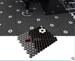 Wholesale Mosaic Tile Shapes - Nordic fashion six black and white porcelain mosaic mosaic angle six angle plum shaped tiles tiles