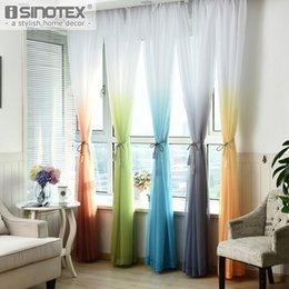 Discount Blackout Curtains Kids Room   Window Curtain Voile Sheer Curtain  Rainbow General Color Changing Tulle