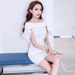 44d1507abe72 2019 Summer New Ladies Skirt Temperament Socialite Thin Shoulder Sexy Hip  Dress Sexy Midi Dresses wholesale