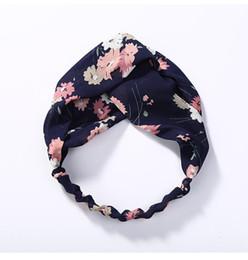 Bande de cheveux croisés petit élastique frais et simple bord étroit brisé fleur tissu noeud en gros ? partir de fabricateur