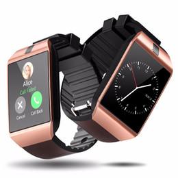 2019 telefono rosa android guardare DZ09 Smartwatch Android GT08 U8 A1 Samsung Smart Watchs SIM Orologio cellulare intelligente in grado di registrare lo stato di sonno Smart Watch
