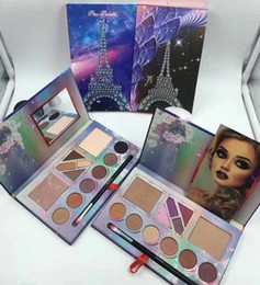 Wholesale Top Brand Makeup Wholesale - New brand makeup 12 color Pro-palette Eyeshadow Highlighter Blush Palette with Brush top quality DHL shipping