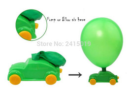 Wholesale Balloon Cars - Free ship cheap 12pcs classic Colourful balloon air motived racing car children kids party favor pinata toy bag fillers prizes