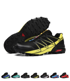 Wholesale Resistant Shoes - Wholesale New Arrival Speedcross 5 Shoes Men Running Sneakers Outdoor Sports Anti-skid Wear-resistant Cross-country Running Shoes Size 40-46