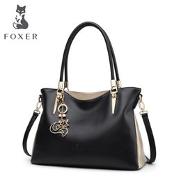 foxer brand handbags Promo Codes - FOXER Brand Cowhide Leather Women Handbag & Shoulder bag Female Fashion Handbags Lady Totes Women's Crossbody Bags