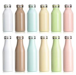 Bouteille thermos enfant en Ligne-12 oz / 17 oz sous vide bouteille d'eau forme en acier inoxydable tasses isolation sous vide 500 ml bouteille d'eau thermos enfants mignon tasses de lait bouteille d'eau