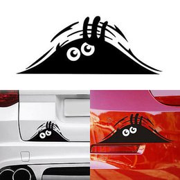 Wholesale car body graphics - 19*7cm Funny Peeking Monster Auto Car Walls Windows Sticker Graphic Vinyl Car Decals Car Stickers Accessories GGA716 150pcs