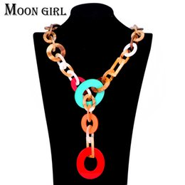 Wholesale jewelry chain display - Colorful acrylic chain statement necklacesTrendy collares fashion jewelry display 3 color choker necklaces for women
